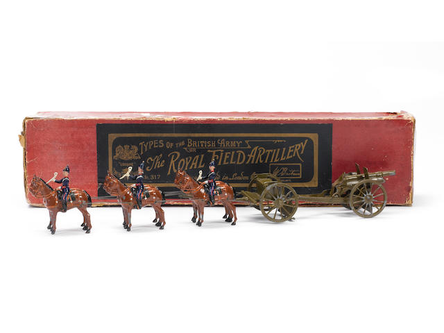 Britains RARE set 317, Royal Field Artillery at the Halt 8