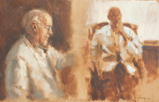 Ken Moroney (British, born 1949) Studies of an old man