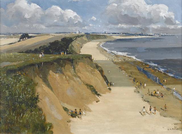 Campbell Archibald Mellon (British, 1876-1955) Hopton Sands, Near Gorleston 41 x 56.2 cm. (16 x 22 in.)