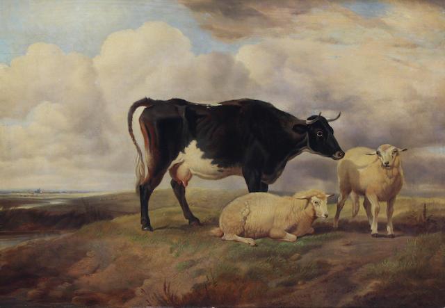 Follower of Thomas Sidney Cooper, R.A. (British, 1803-1902) 31 x 43cm.