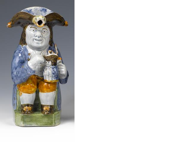A rare Yorkshire Toby 'Puzzle Jug' Circa 1810.