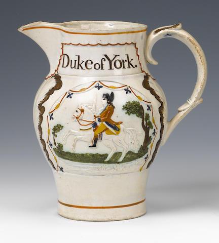 A Pratt Ware commemorative jug Circa 1794.