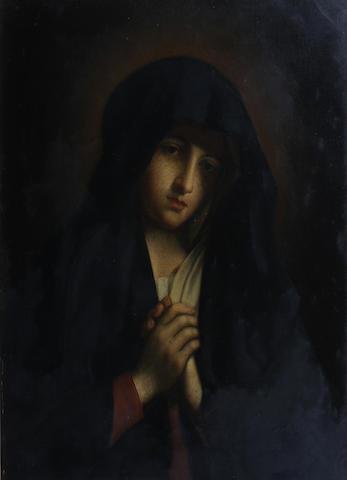 Oreste Bicchi (Italian, active circa 1876), after Raphael 74 x 58cm In a Florentine carved gilt frame.