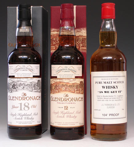 The Glendronach-18 year old-1977The Glendronach Traditional-12 year oldMacallan-Glenlivet As We Get It