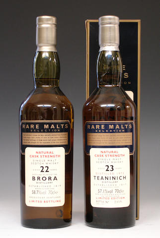 Brora-22 year old-1972Teaninich-23 year old-1973