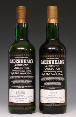 Strathmill-11 year old-1980  Fettercairn-12 year old-1980