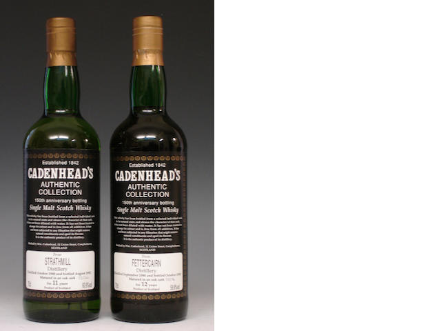 Strathmill-11 year old-1980Fettercairn-12 year old-1980