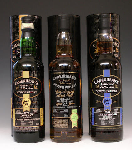 St. Magdalene-23 year old-1975  Lochside-22 year old-1981  Springbank-11 year old-1989