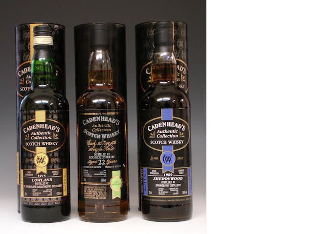 St. Magdalene-23 year old-1975Lochside-22 year old-1981Springbank-11 year old-1989
