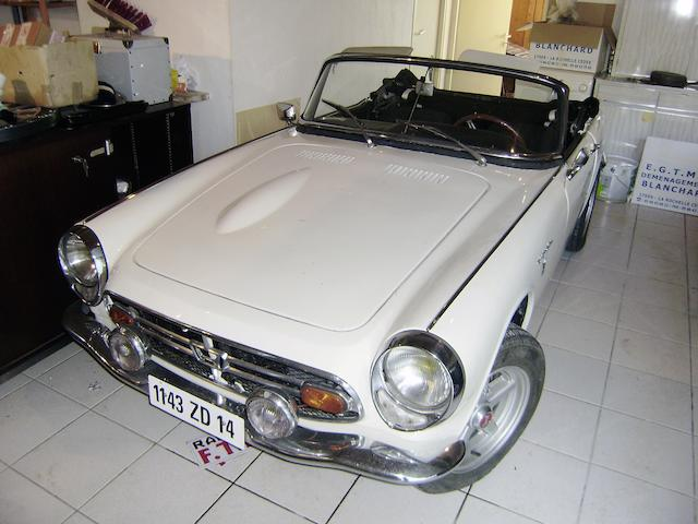 1968 Honda S800 Roadster  Chassis no. 1005008