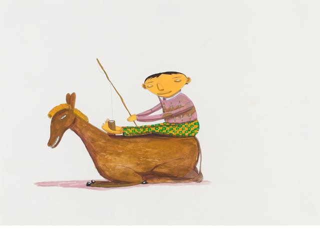 Os Gemeos, (Otavio & Gustavo Pandolfo) (Brazilian, born 1974) 'Boy and Donkey',
