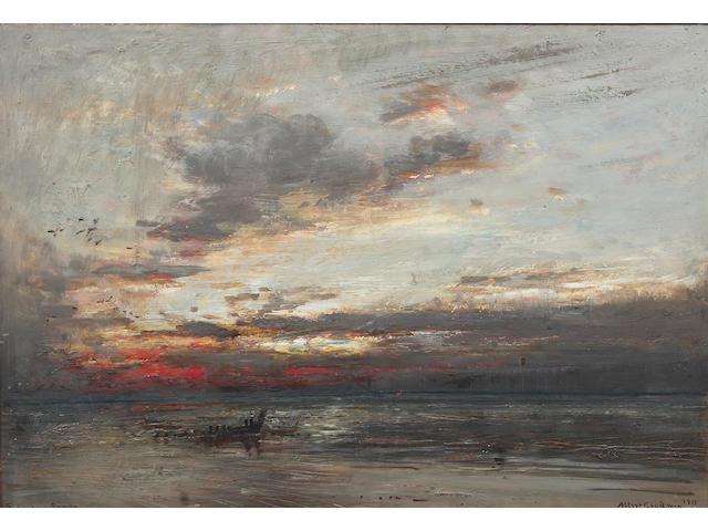 Albert Goodwin, RWS (British, 1845-1932), The Goodwin Sands framed and glazed, 33cm x 49cm.
