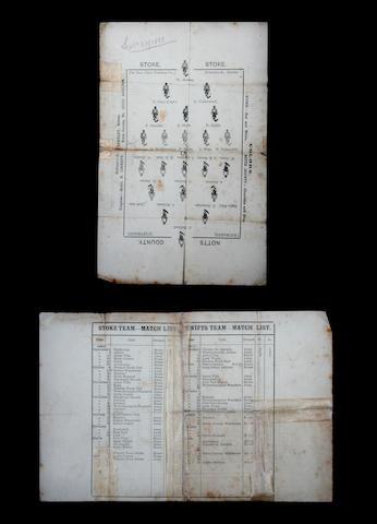 1888 Stoke v Notts County programme