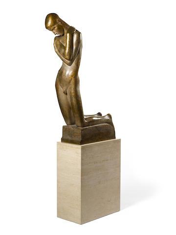George Minne (Belgian, 1866-1941) Enfant agenouillé 113 x 66.5 x 25cm (44 1/2 x 26 3/16 x 9 3/16in excluding base)