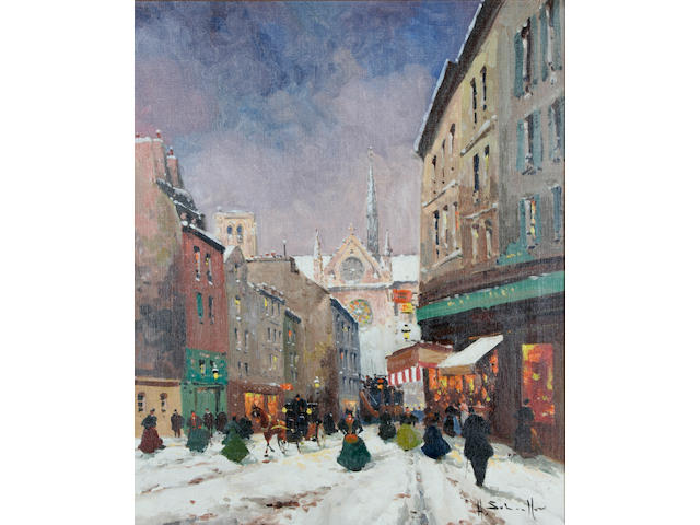 "Henri Alexis Schaeffer (French, 1900-1975) ""Paris in the Snow"","