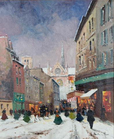 "Henri Alexis Schaeffer (French, 1900-1975) ""Paris in the Snow"","
