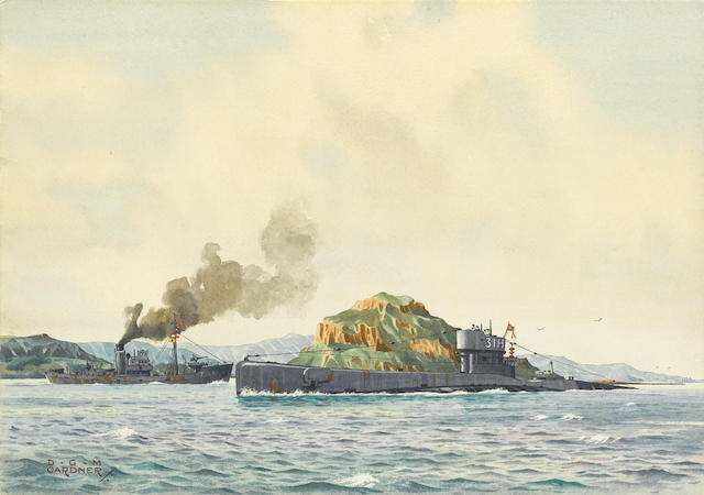 Derek George Montague Gardner (British, 1914-2007) H.M. Submarine H 31 unframed