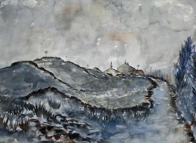 Ashley Jackson, FRSA (British, born 1940) On the moors, Foxhill Farm,