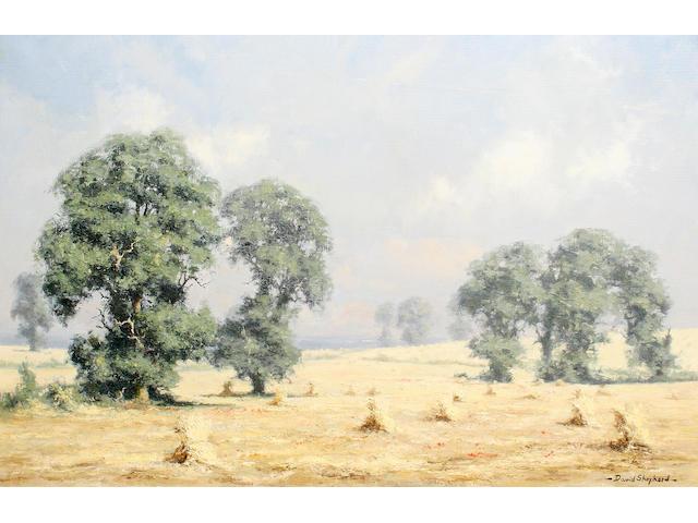 David Shepherd, O.B.E. (British, born 1931) Wheat 50.5 x 76 cm. (19 3/4 x 30 in.)