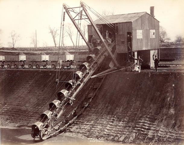 CANALS and RAILWAYS Twenty-five scenes of the construction of the Manchester Ship Canal and the reconstruction of Brunel's viaducts on the Cornwall Railway, 1890s