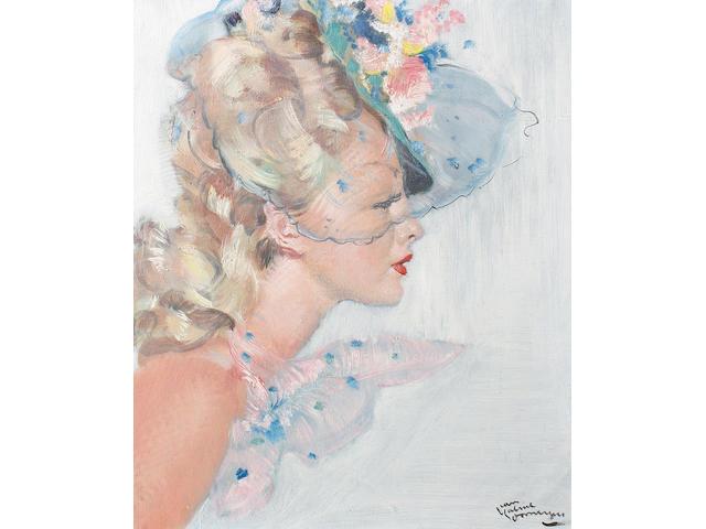 Jean-Gabriel Domergue (French, 1889-1962) 'Profil de Angela'