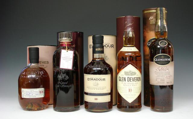 The Glenrothes-1979Edradour-1991Edradour-10 year oldGlen Deveron-10 year old-1994Glengoyne Scottish Oak Wood Finish