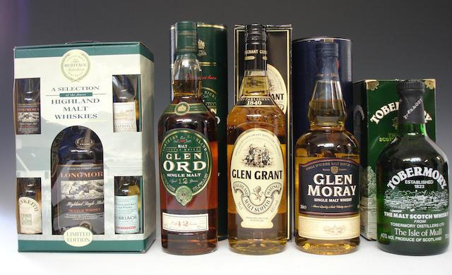 Longmorn-15 year oldGlen Ord-12 year oldGlen GrantGlen MorayTobermory