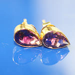 A pair of amethyst earstuds