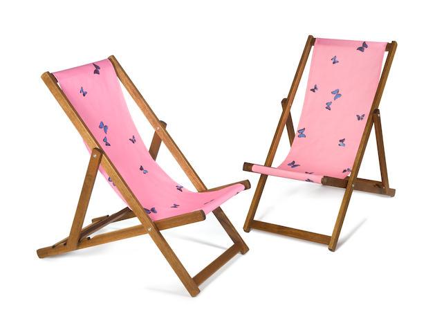 Damien Hirst (British, born 1965) A pair of deckchairs, 2007