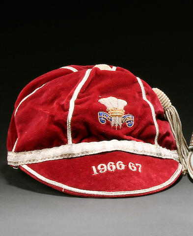 Barry John's 1966/67 Welsh International cap