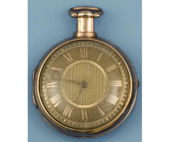 George Clerke, London: An 18ct gold pair cased pocket watch