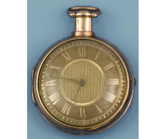 George Clerke, London: An 18ct gold pair cased pocket watch