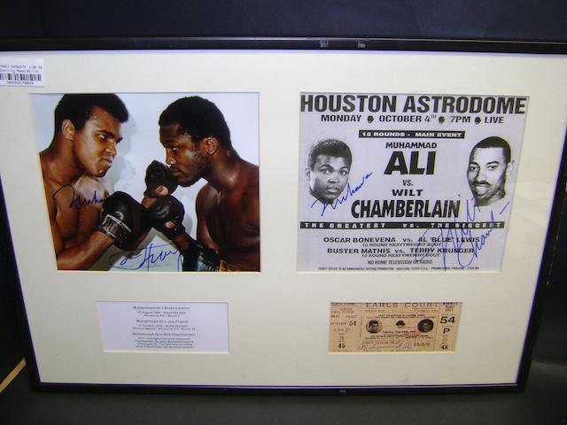 Muhammad Ali hand signed montage