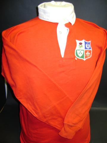 Barry John's Lions shirt worn in 4th Test v New Zealand in 1971
