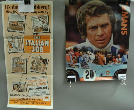 Two motoring related feature film posters,