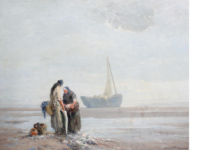 Dudley Hardy (British, 1865-1922) Fisherwomen at low tide