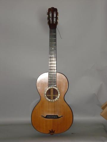 A Mittenwald six string Guitar, circa 1900