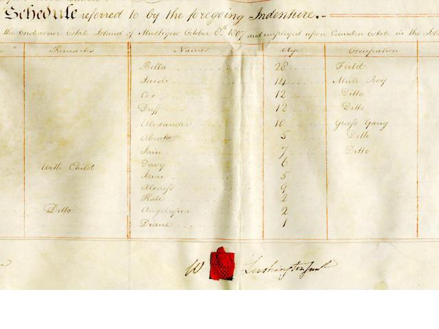 SLAVERY - MUSTIQUE and TRINIDAD