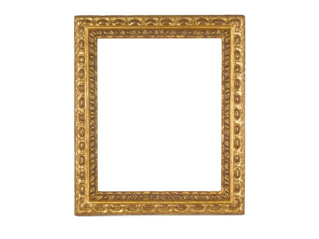 An Italian 17th Century carved and gilded frame