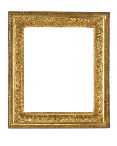 A Louis XIII carved and gilded frame