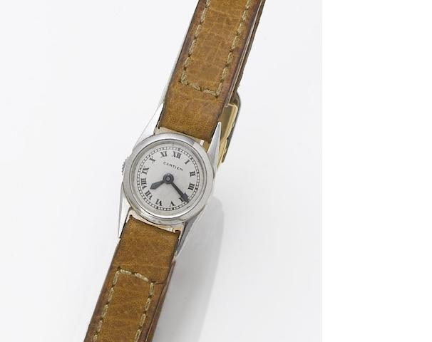 Cartier. A very fine and unusual lady's platinum wristwatch 1930's