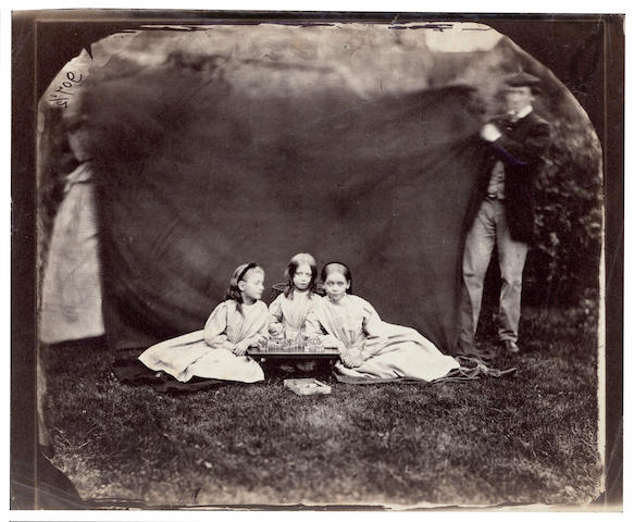 DODGSON (CHARLES LUTWIDGE)  Portrait of Gertrude, Mary and Caroline Dykes (aged 8, 10 and 6 respectively), September 1862