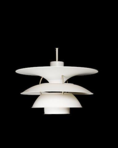 Poul Henningsen for Louis Poulsen, a 'PH5 Pendant' light, designed 1958 aluminium,