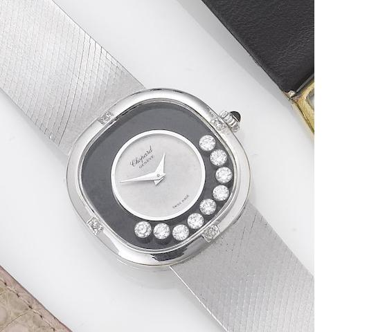 Chopard. A lady's 18ct white gold diamond set bracelet watch retailed by Kutchinsky Happy Diamonds, 1970's