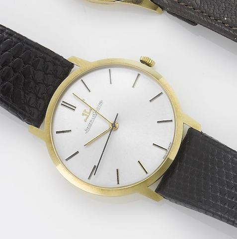 Jaeger LeCoultre. An 18ct gold centre seconds wristwatch 1980's