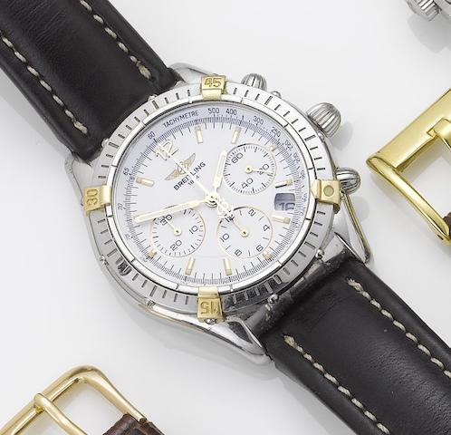 Breitling. A stainless steel automatic calendar chronograph wristwatchRef:B30012, Sold January 21st 2001