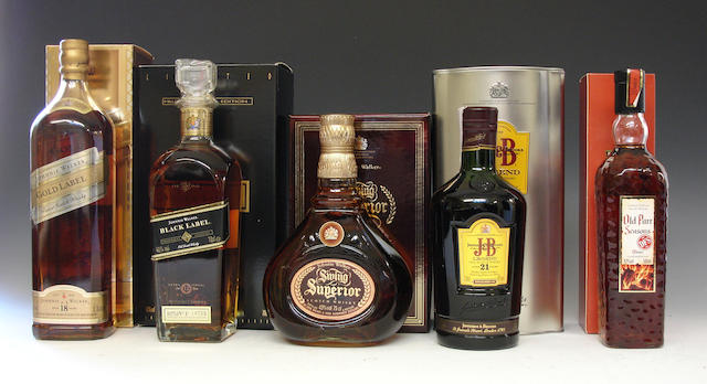 Johnnie Walker Gold Label-18 year oldJohnnie Walker Black Label-12 year oldSwing SuperiorJ & B Legend-21 year oldOld Parr Seasons