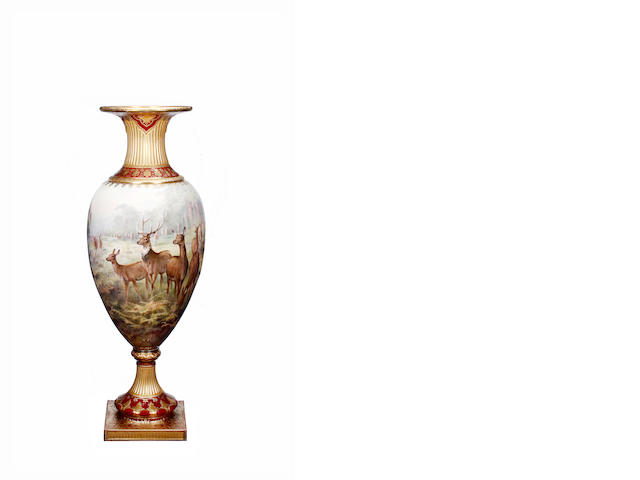 A large Exhibition Royal Doulton vase