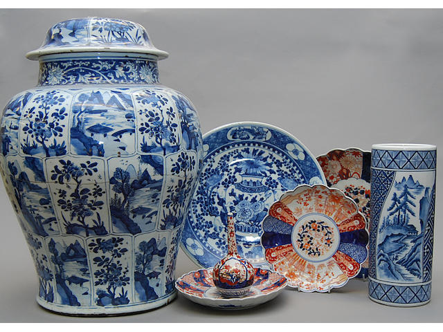 A collection of Chinese blue and white ceramics