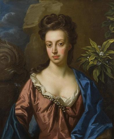 After Sir Godfrey Kneller Half length portrait of a lady